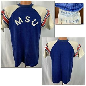 Vintage 1960s MSU T-shirt 60s Champion Products Memphis State University Tigers