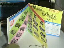 BEAU CATALOGUE JOUEF 1966 TRAINS HO /ACCESSOIRES/ CIRCUIT ROUTIER / AUTOS 1:40