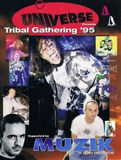 UNIVERSE TRIBAL GATHERING 95 Rave Flyer Flyers A4 Running Order THE PRODIGY