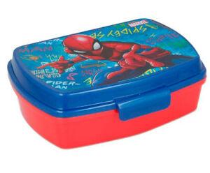 Spiderman LUNCH BOX scatola colazione porta PRANZO MERENDA sandwich scuola