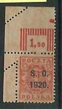 62698 - POLAND:  SCHLESIEN - STAMP : Michel #3 with perforation ERROR!