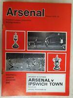 1971/72  ARSENAL v IPSWICH TOWN - 30th OCTOBER