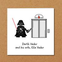 Star Wars Card - Birthday Darth Vader - Funny humorous humour amusing - Blank