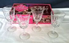 Vintage Set of 8 (2 Boxes) LADY VICTORIA Fine Crystal Stemware CHANTELLE Pattern