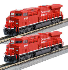 Kato N Scale ES44AC 2 Locomotive Set CP #8700 #8743 DC DCC Ready 1768934 1768935