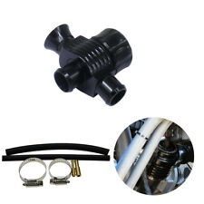 1x Car Dual Port Blow Off Turbo Bov Valve Diverter Valve 25mm Black Aluminum