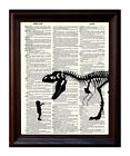 Pet T-rex - Dictionary Art Print Printed On Authentic Vintage Dictionary Book