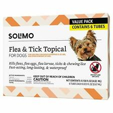 Brand - Solimo for Dogs Small Dog 4-22 pounds Flea and Tick Treatment 6 Doses