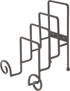 """Bard's Wrought Iron 4 Plate Table Stand, 8"""" H x 7.25"""" W x 6"""" D (Pack of 2)"""