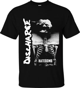 "DISCHARGE T-SHIRT ""HATEBOMB"" OFFICIAL MERCH up 5XL british punk hardcore d-beat"