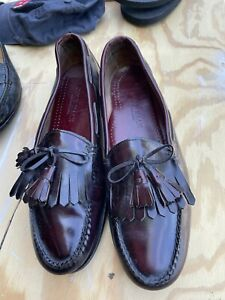 Men's Cole Haan Tassel Loafers Size 13 D,M) Dress Solid Burgundy, Leather