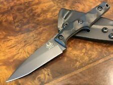 Bawidamann Blades Huginn EDC Knife Slicer Grind Chunked Carbon Fiber Handles