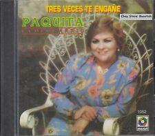 Paquita La Del Barrio Tres Veces Te Engañe CD New Nuevo Sealed
