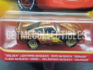 DISNEY PIXAR CARS GOLDEN EDITION LIGHTNING MCQUEEN METAL 2021 SAVE 6% GMC