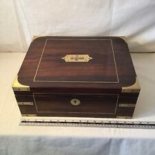 Fabulous Antique Campaign Style Box With Lock And Key. Gun Box ?