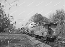 ORIG NEG Maine Central caboose 559 on Mountain Div. GE Special Original 2 ¼