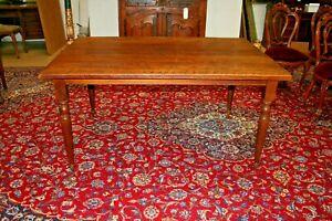 Custom Handmade Farmhouse Thick Solid White Oak Dining Table Breakfast Rustic