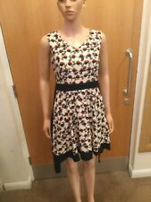 Tenki White, Red & Navy Blue Sleeveless Dress - UK Ladies Size 10 - JR