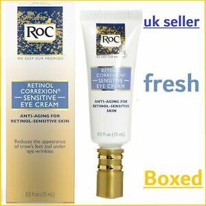FRESHEST RoC Retinol Correxion Sensitive Eye Cream Anti-Ageing/Dark Circles Skin