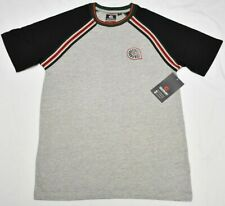 Akademiks T-Shirt Men 4XL 4XB 4X Flatbush Raglan Stripe Crew Tee Grey Urban P447