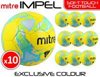 10 x MITRE IMPEL TRAINING FOOTBALLS - YELLOW - SIZES 3, 4 & 5 - EXCLUSIVE COLOUR