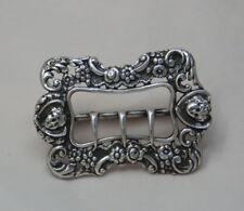 Victorian Antique Solid Silver Buckles