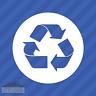 Recycle Symbol Vinyl Decal Sticker