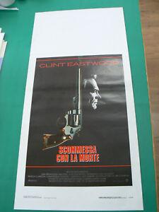 LOCANDINA manifesto SCOMMESSA CON LA MORTE CLINT EASTWOOD PATRICIA CLARKSON 1988