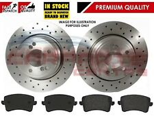 FOR AUDI A4 B8 A5 2008- REAR SOLID DRILLED BRAKE DISCS AND MEYLE PADS SET 300mm