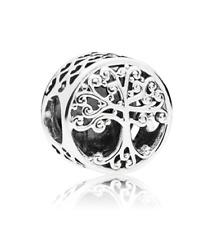 Fashion European Tree CZ Crystal Charm Spacer Beads Fit Necklace Bracelet DIY