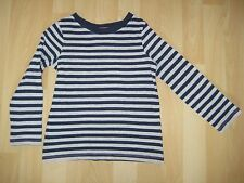 Girls Aged 4 Years Grey / Blue Striped Top from Next