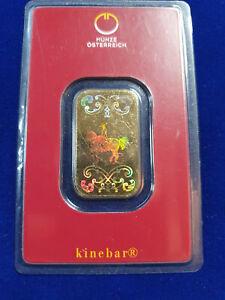 🔥 10 gram .9999 Gold Bar - Austrian Mint KineBar Design (In Assay) SHIPS FAST!
