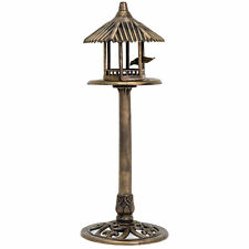 Bcp Outdoor Pedestal Gazebo Bird Feeder w/ Antique Bronze Finish