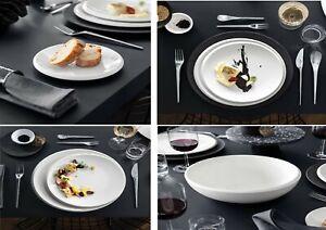Dinner Plates White Ceramic Dinnerware Dining Plates Selection - New Moon V&B