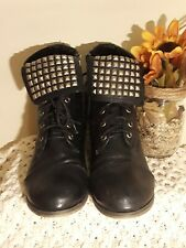 Breckelle Studded Lace Up combat Boots size 7.5
