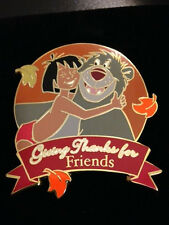 Disney Auctions Giving Thanks For Friends Mowgli & Baloo Jungle Book Pin LE 100