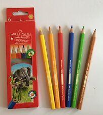 Faber-Castell 6 JUMBO Buntstifte Farbstifte Malstifte Stifte dick Eco Pencil