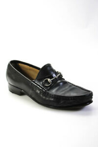 Gucci  Mens Horsebit Leather Slip On  Loafers Dark Brown Size 10.5