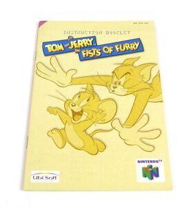 Tom and Jerry in Fists of Fury Anleitung Manual   NUS-NTJP-EUR   Nintendo 64