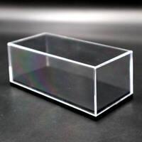 Acrylic Display Case Model Cars Show Box Transparent Dust Proof Black Base 1/64