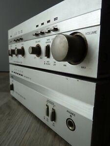 ensemble préamplificateur + amplificateur AÏWA SA-C30 + P30 mini component 1982