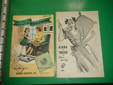 JC277 Vintage LOT of 2 1940's Sewing Guides