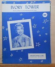 Ivory Tower - 1956 sheet music - Cathie Carr photo cover