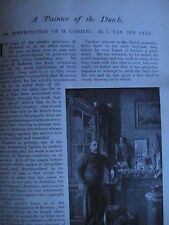 H Cassier Artist Portrait Painter Dutch Art Old Antique Article 1904 Volendam
