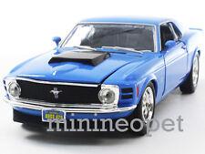 MOTORMAX 73303 1970 70 FORD MUSTANG BOSS 429 1/24 DIECAST BLUE