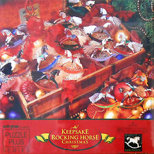 "PUZZLE - JIGSAW SPRINGBOK A KEEPSAKE ""ROCKING HORSE CHRISTMAS"" 500 PC - NIP!"