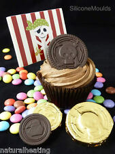 PIRATE COINS Treasure Chocolate Candy Mold Cake Silicone Bakeware Mould Party