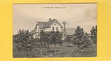 Aberdeen,Brown County,SD South Dakota, J.H.Regan Farm windmill, trees ,apple?