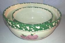 Set of 2 Alpine Pottery Roseville 1998 Round Apple Nesting Bowls