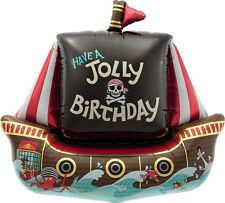 Party Supplies Boys Birthday Pirate Jolly Ship  Super Shape Foil Balloon